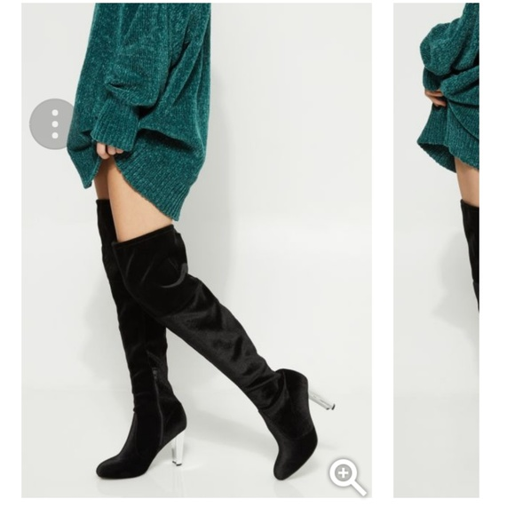 18864725b23 Rue 21💞💞over the knee silver💞 heel boots💞